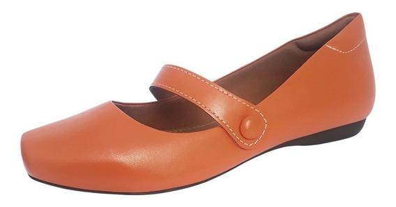 Sapato Sapatilha Boneca Mary Jane Couro Confort Calce Facil