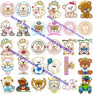 Matrizes Bordado 214 Ursinhos Príncipe Princesa Lindos Ursos