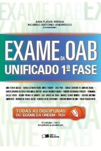 Livro Exame Da Oab Unificado 1ª Fase Ana Flávia Messa