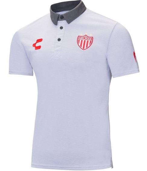 Playera Charly Polo Rayos Necaxal Blanco-negro Envío Gratis