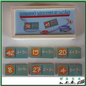 Brinquedo Educativo - Domino De Multiplicação