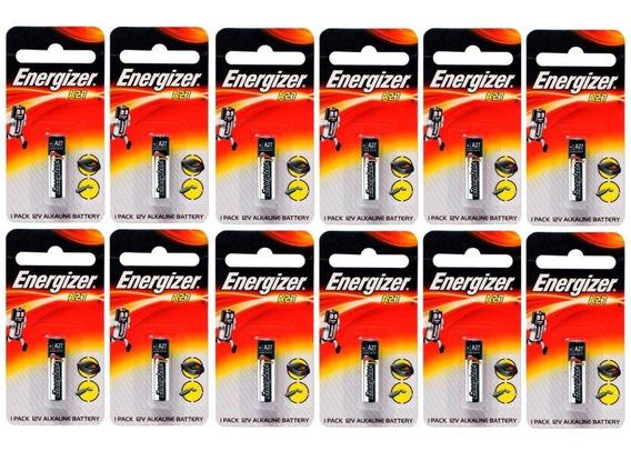 Pilha Para Alarme Controle Portão A27 12v 12 Un Energizer