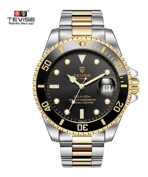 Relógio Masculino Tevise T801 Automático Novo Na Caixa Top
