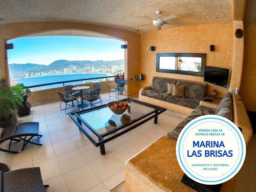 Imagen 1 de 14 de Hermosa Casa En Marina Las Brisas Con Vista A La Bahia