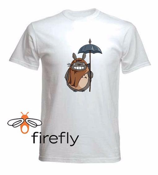 Remera Mi Vecino Totoro Hombre Blanco Coleccion 2 Firefly