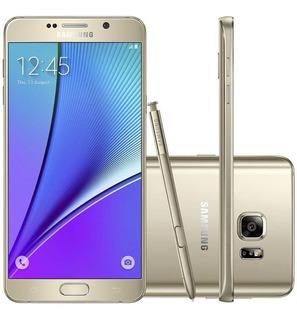 Samsung Galaxy Note 5 N920g 32gb 4g Ram 4g Dourado Vitrine 1