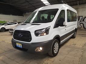 Ford Transit 2.2 Pasajeros Larga Techo Alto Custom Mt 2018