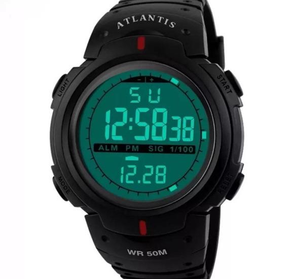 Relogio Digital Esportivo Prova D´água Atlantis 7330g
