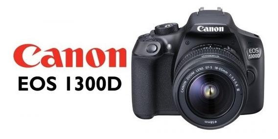 Câmera Dslr Canon Eos 1300d + Sd 64gb + Acessórios
