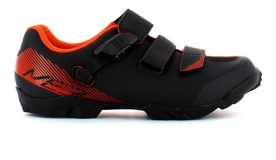 Zapatillas Ciclismo Mtb Shimano Me 300 Negro Con Naranja