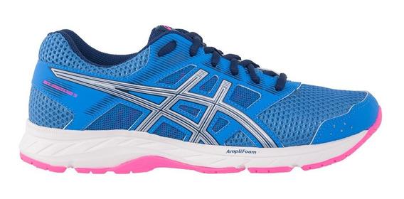 Tênis Asics Gel Contend 5 Feminino - Azul/prata/rosa