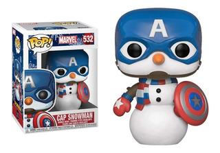 Funko Pop Capitan America #532 Snowman Marvel Jugueterialeon