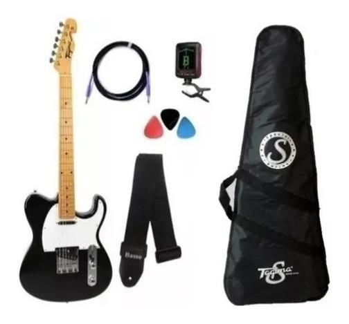 Kit Guitarra Tagima Telecaster Tw55 Woodstock Preto + Nf!