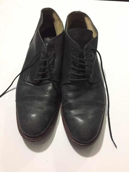 Zapatos De Hombre Marca Febo Número 44 Gris Oscuro Cuero