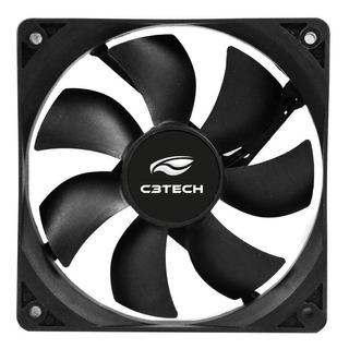 Cooler P/ Gabinete C3 Tech Fan 8x8 Cm Preto