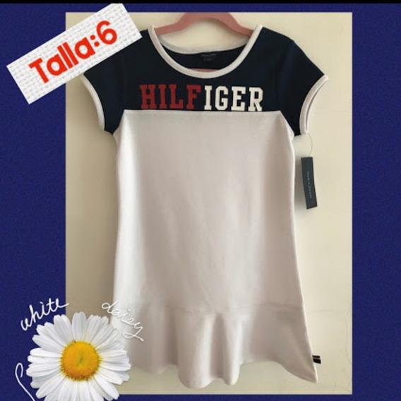Vestido Tommy Hilfiger Original Para Niña Talla 6 Años