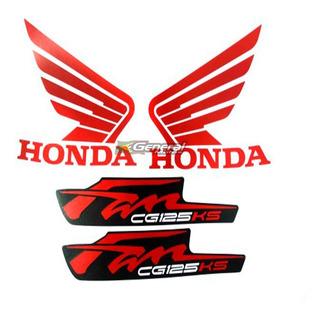 Kit Adesivo Jogo Faixas Moto Honda Fan 125 2012 Ks Preta