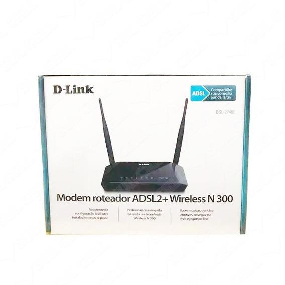 Modem Roteador D-link Dsl-2740e 300mbps 4 Portas 2 Antenas