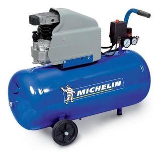Compresor Michelin Mb50 C/motor Monofasico 2 Hp X 50 L