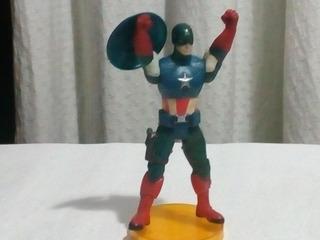Muñeco Capitán América C/base, C/escudo Y C/luz