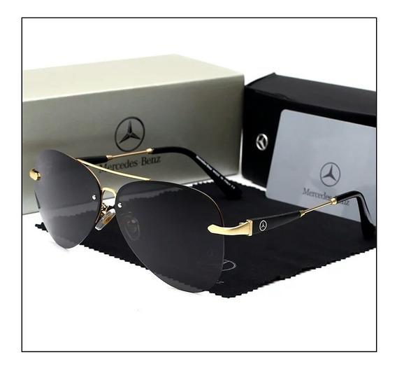 Óculos De Sol Masculino Polarizado Mercedes Benz 743 Uv400