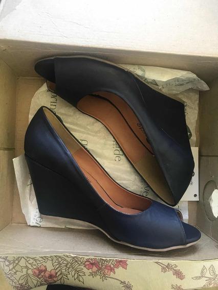 Sapato Feminino Tamanho 37 Azul
