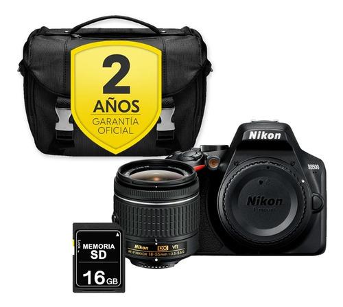 Cámara Nikon D3500 Con 18-55 + Sd 16gb + Maletín