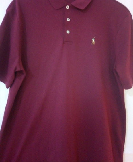 Playera Polo Ralph Lauren Color Vino Lisa