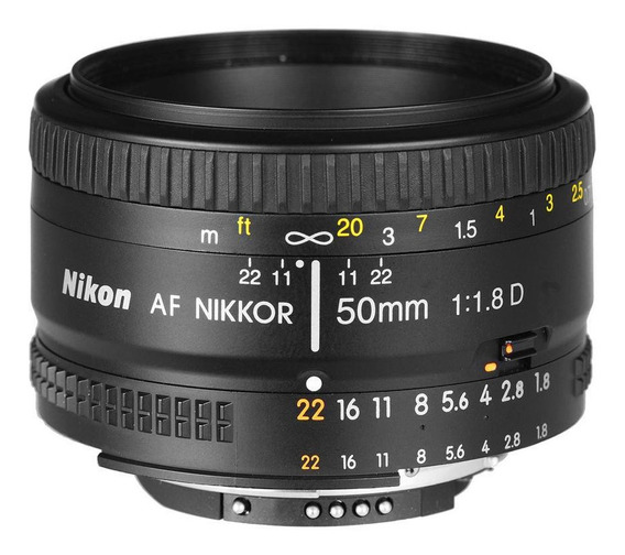 Lente Profissional Nikon Af Nikkor 50mm F/1.8d**
