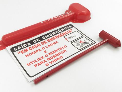 Kit Capa + Martelo + Aviso De Emergência Van E Micro Ônibus