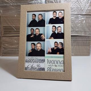 10 Portaretratos Foto Postal Sin Pintar Carton Decoración