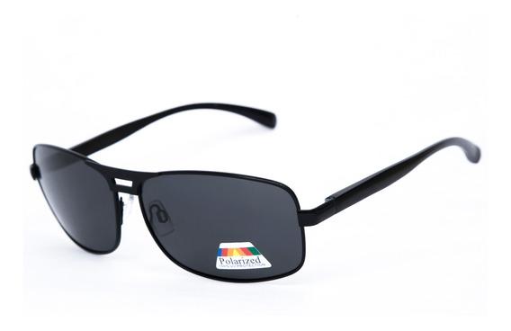 Óculos De Sol Keda Masculino Preto Polarizado Quadrado 002pp