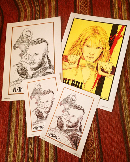 Laminas Posters Afiches Vikings Kill Bill Series Peliculas