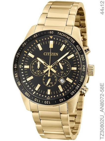 Relogio Masculino Citizen Dourado Cronografo Tz30802u