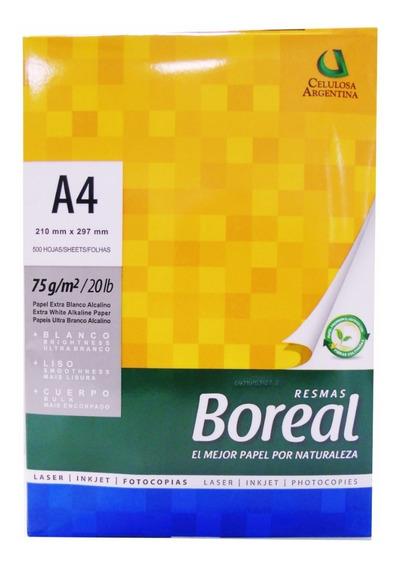 Resmas A4 Boreal 75gr Caja X 10 Papel Bco Envío Gratis