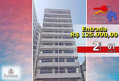 Lançamento Com 2 Dormitórios À Venda, 61 M² Por R$ 250.000 - Boqueirão - Praia Grande/sp - Ap0952