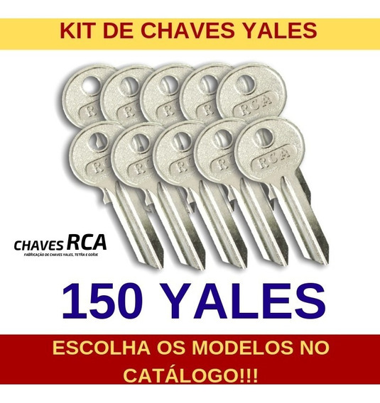 Kit De 150 Chaves Yales Virgens Para Cópia - Rca