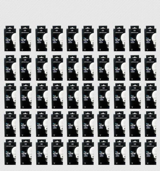 Kit 50 Lampadas Led 12w Bulbo Branca Fria L&d 6500k 10809