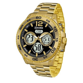 Relógio X Games Masculino Ref: Xmgsa005 P2kx Anadigi Dourado