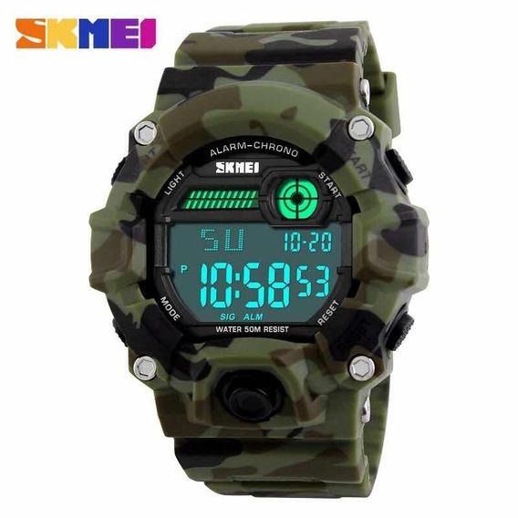 Relógio Skmei Digital Militar Camuflado Pra Treinar Promoção