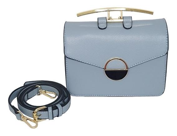 Bolsa Feminina Azul Com Design Diferenciado Super Estilosa