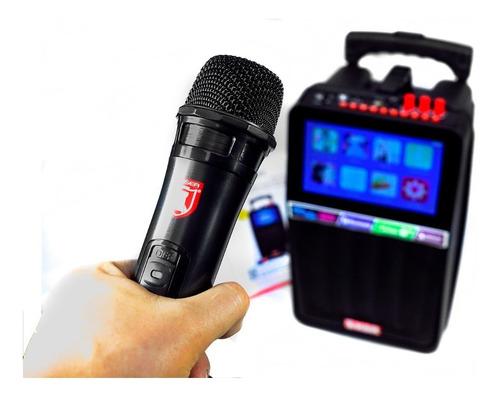 Bafle Karaoke Screen Mirror 8  Bluetooth Control Microfono