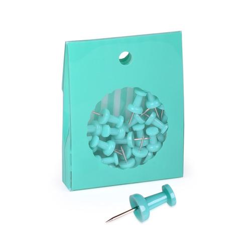 Pins Para Cartelera Neox Verde Agua - Mosca