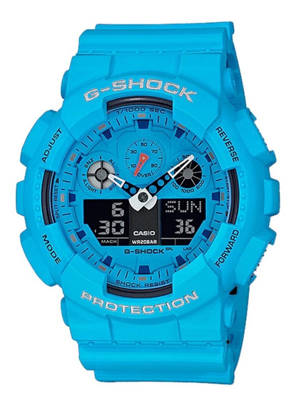 Relógio Casio G-shock Ga-100rs-2a Rock Series!