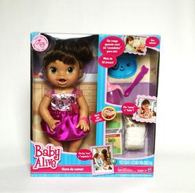 Baby Aive Hora De Comer Morena Hasbro