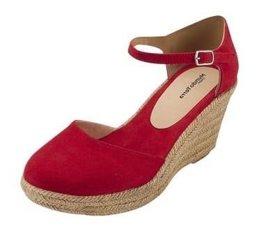 Sandalias Dama Plataforma M/t Alt. 9 Rojo 023405