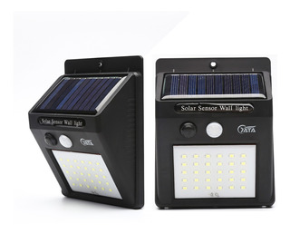 2x Luminária Solar Parede 30 Led Jardim Piscina Sensor Pres