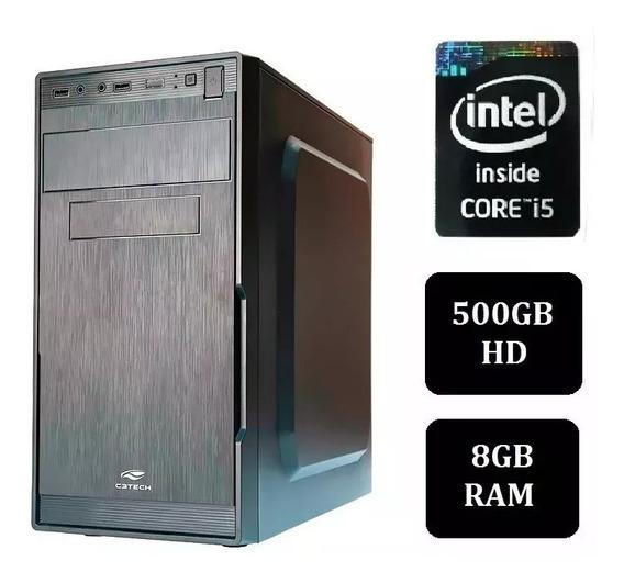 Pc Cpu Intel Core I5 + 8gb+ Hd 500 Promoção Limitadíssima