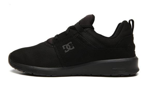 Tenis Dc Shoes Heathrow, Skate, Todo Preto Frete Gratis