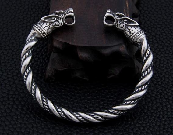Pulseira Bracelete Masculino De Aço Inoxidável Modelo Viking Dragão Ragnar Thor Antigo Vintage
